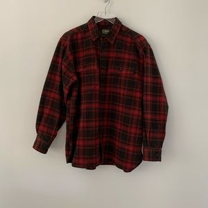 L.L. BEAN Heavyweight Long Sleeve Flannel